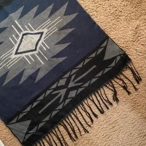 Large Aztec Print Blanket Scarf